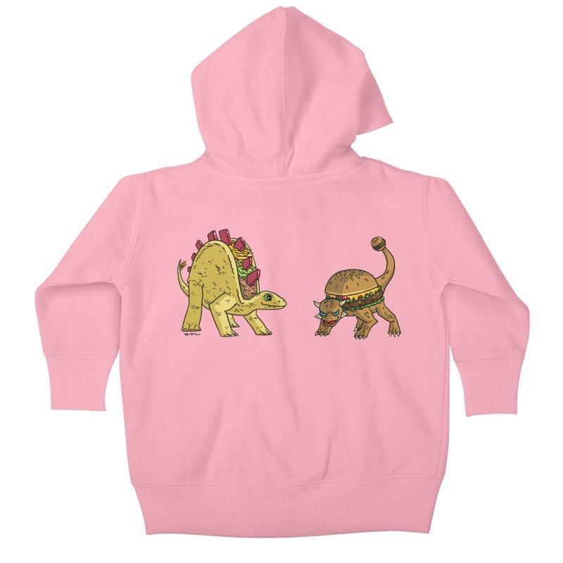 Taco and Burgersaurus Kids Baby Zip-Up Hoody by brianmcl's Artist Shop