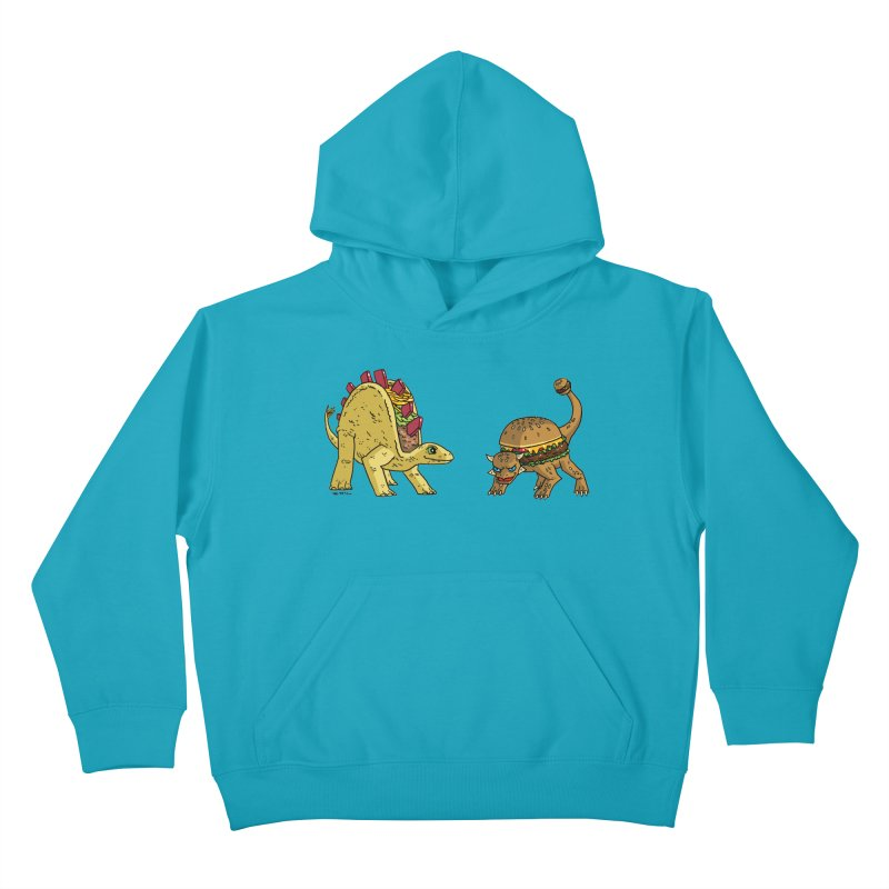 Taco and Burgersaurus Kids Pullover Hoody by brianmcl's Artist Shop