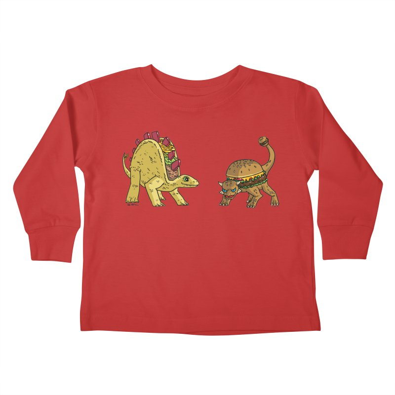 Taco and Burgersaurus Kids Toddler Longsleeve T-Shirt by brianmcl's Artist Shop