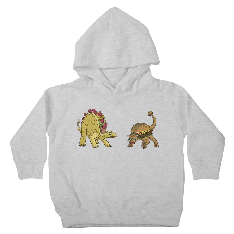 Taco and Burgersaurus Kids Toddler Pullover Hoody by brianmcl's Artist Shop