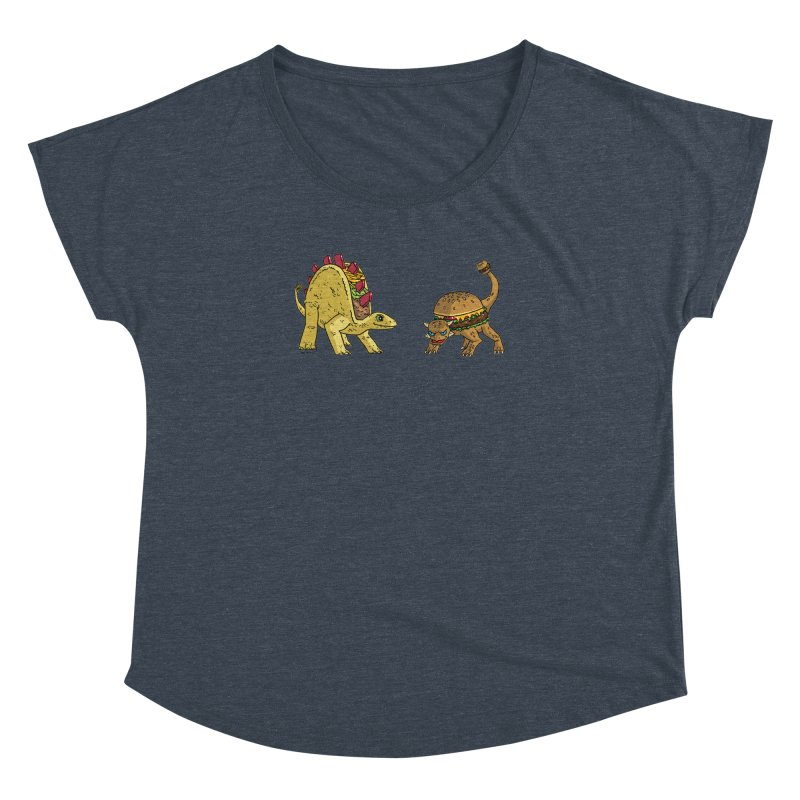 Taco and Burgersaurus Women's Dolman Scoop Neck by brianmcl's Artist Shop