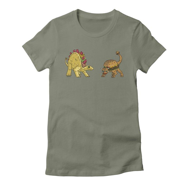 Taco and Burgersaurus Women's T-Shirt by brianmcl's Artist Shop