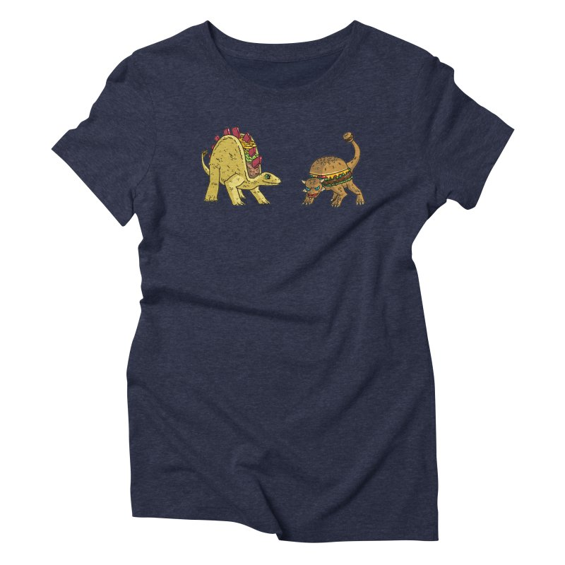 Taco and Burgersaurus Women's Triblend T-Shirt by brianmcl's Artist Shop