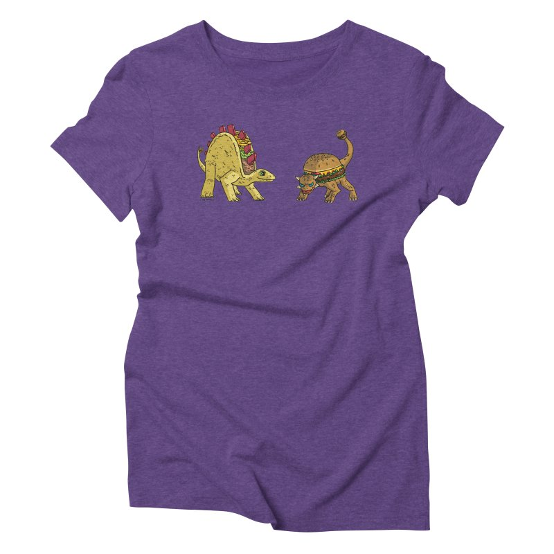 Taco and Burgersaurus Women's Triblend T-Shirt by brianmcl's Artist Shop