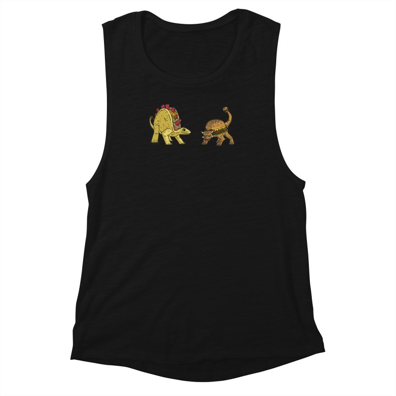 Taco and Burgersaurus Women's Muscle Tank by brianmcl's Artist Shop