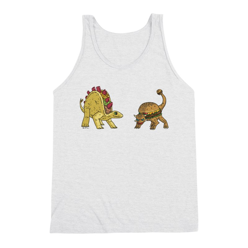 Taco and Burgersaurus Men's Triblend Tank by brianmcl's Artist Shop
