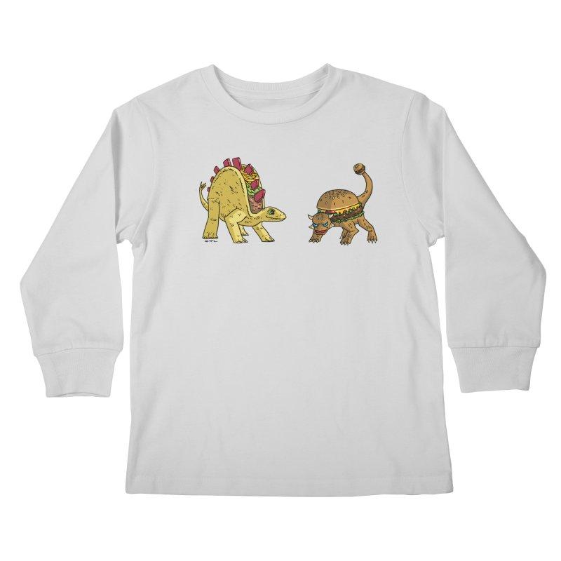 Taco and Burgersaurus Kids Longsleeve T-Shirt by brianmcl's Artist Shop