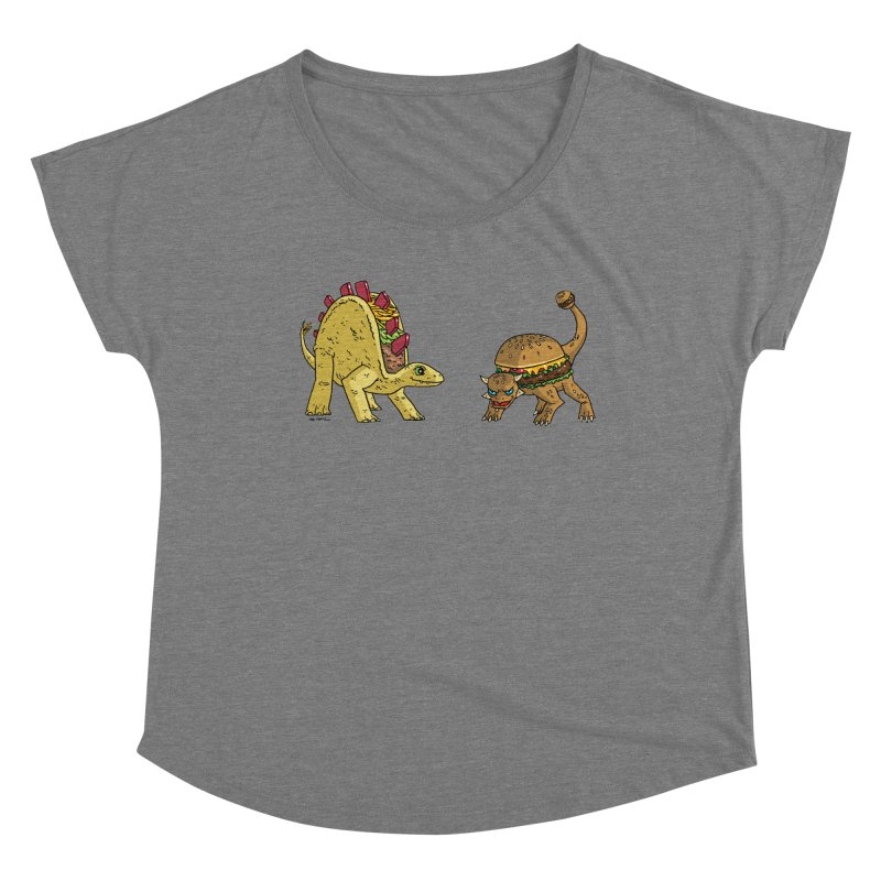Taco and Burgersaurus Women's Scoop Neck by brianmcl's Artist Shop