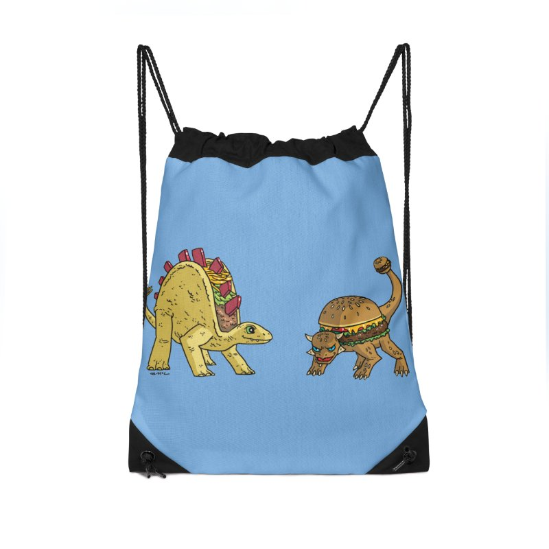 Taco and Burgersaurus Accessories Drawstring Bag Bag by brianmcl's Artist Shop