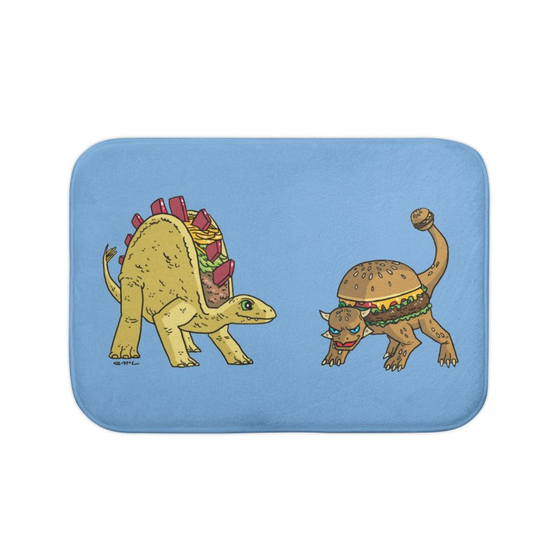 Taco and Burgersaurus Home Bath Mat by brianmcl's Artist Shop