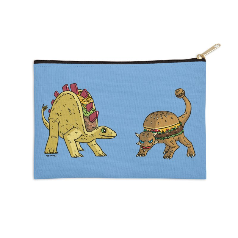 Taco and Burgersaurus Accessories Zip Pouch by brianmcl's Artist Shop
