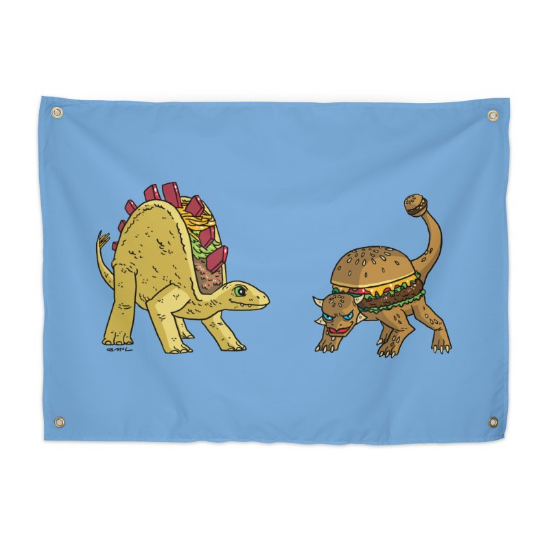 Taco and Burgersaurus Home Tapestry by brianmcl's Artist Shop