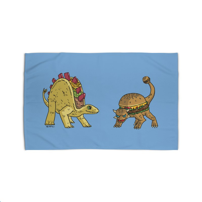Taco and Burgersaurus Home Rug by brianmcl's Artist Shop