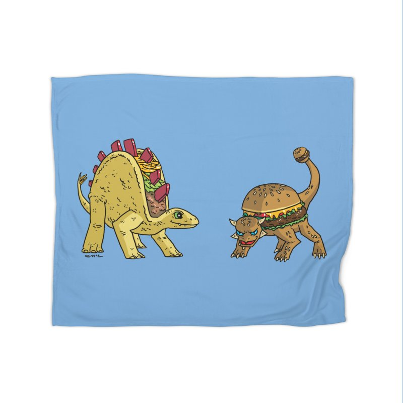 Taco and Burgersaurus Home Fleece Blanket Blanket by brianmcl's Artist Shop