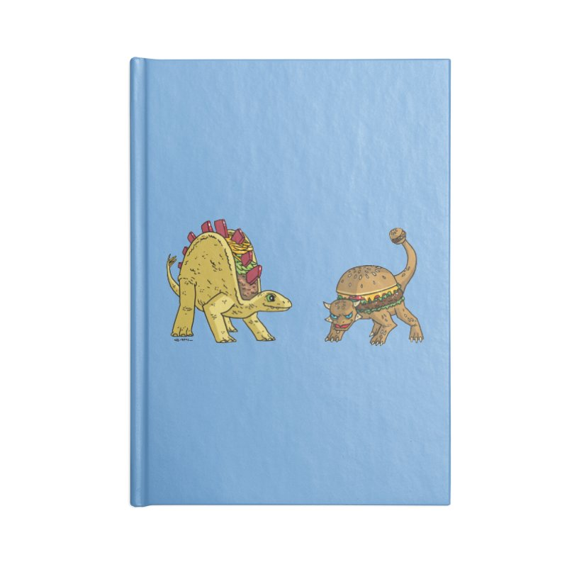 Taco and Burgersaurus Accessories Lined Journal Notebook by brianmcl's Artist Shop