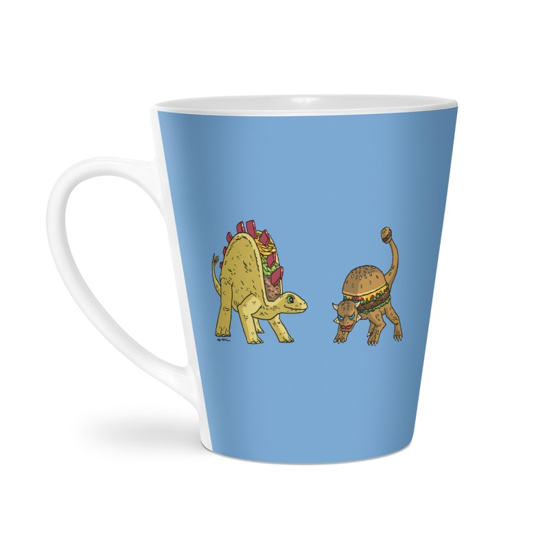 Taco and Burgersaurus Accessories Latte Mug by brianmcl's Artist Shop