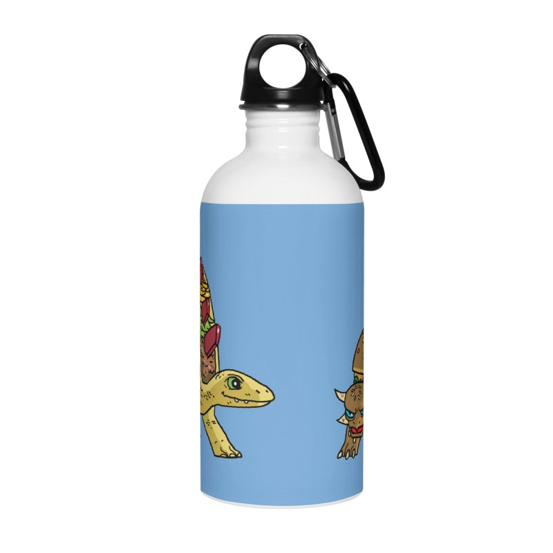 Taco and Burgersaurus Accessories Water Bottle by brianmcl's Artist Shop