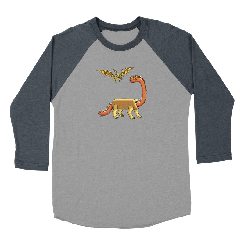 Brontodog and Pizzadactyl Women's Baseball Triblend Longsleeve T-Shirt by brianmcl's Artist Shop