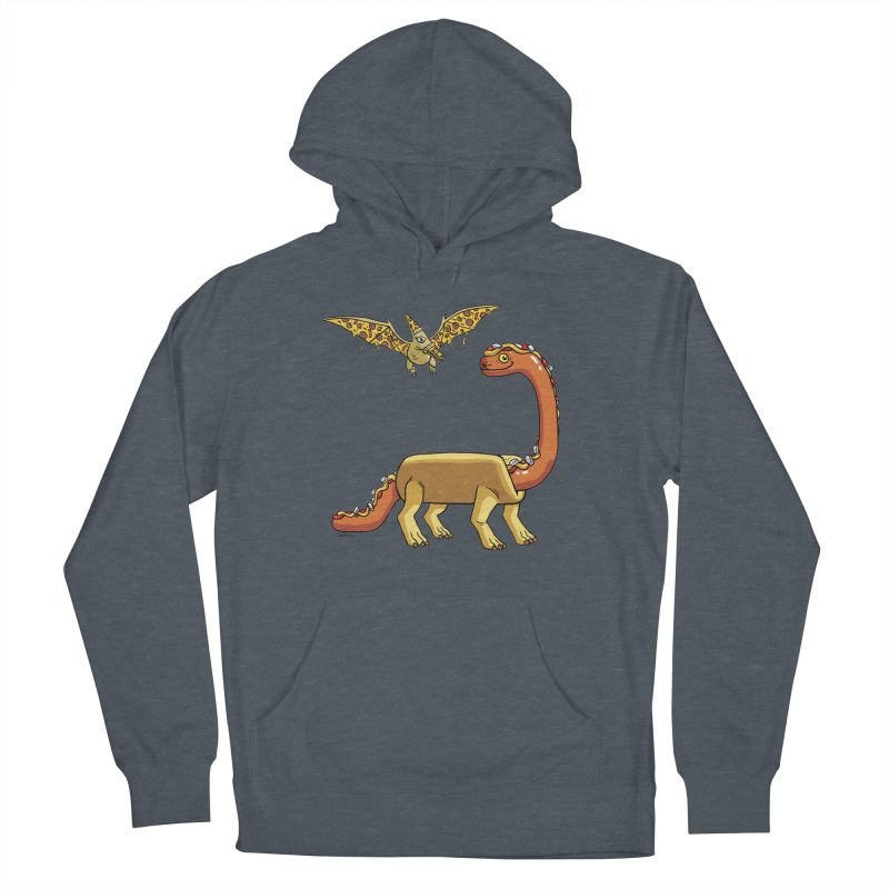 Brontodog and Pizzadactyl Women's French Terry Pullover Hoody by brianmcl's Artist Shop