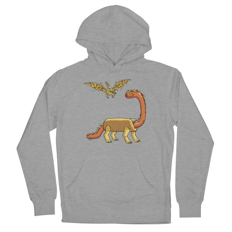 Brontodog and Pizzadactyl Men's French Terry Pullover Hoody by brianmcl's Artist Shop