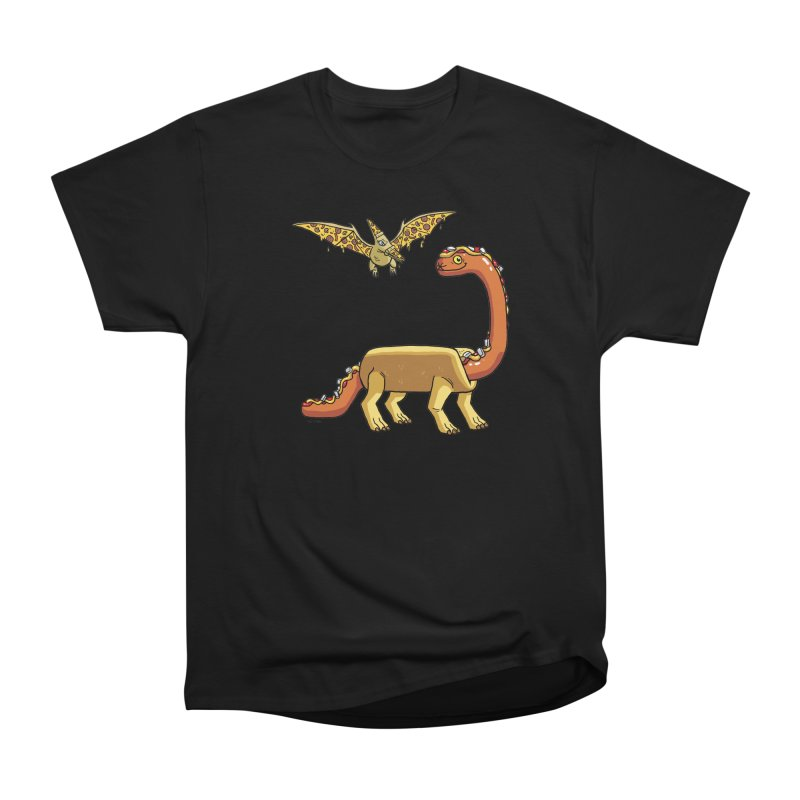 Brontodog and Pizzadactyl Women's Heavyweight Unisex T-Shirt by brianmcl's Artist Shop