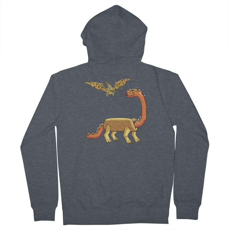 Brontodog and Pizzadactyl Men's French Terry Zip-Up Hoody by brianmcl's Artist Shop