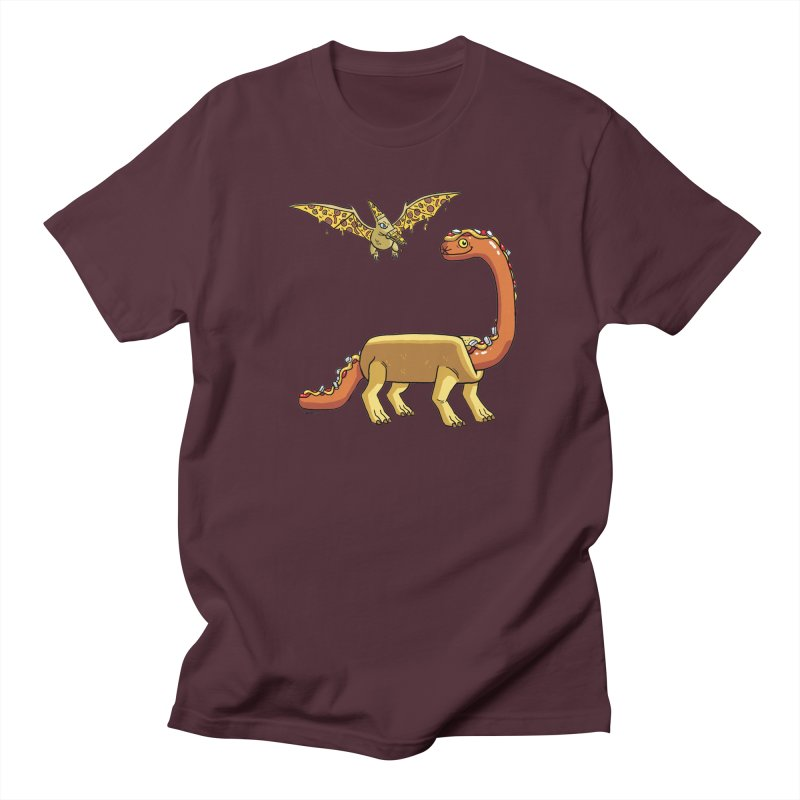 Brontodog and Pizzadactyl Women's Regular Unisex T-Shirt by brianmcl's Artist Shop