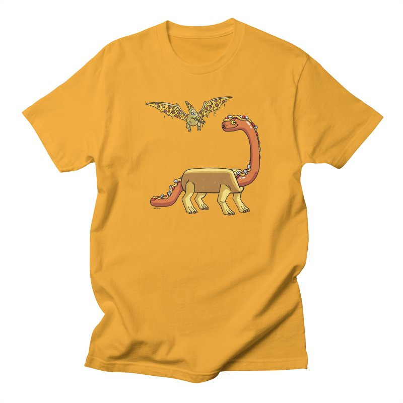 Brontodog and Pizzadactyl Men's Regular T-Shirt by brianmcl's Artist Shop