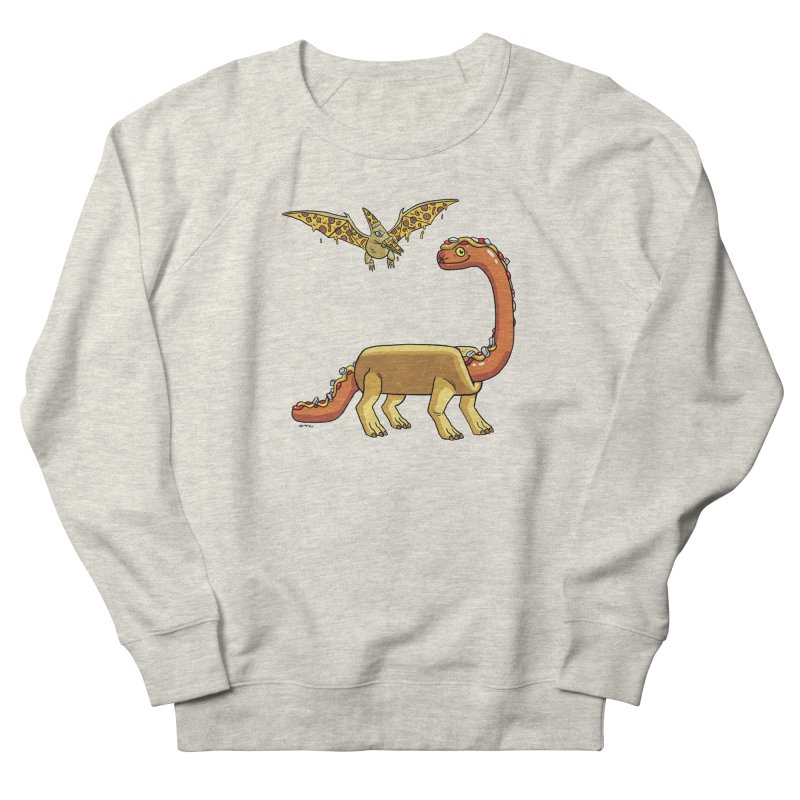 Brontodog and Pizzadactyl Men's French Terry Sweatshirt by brianmcl's Artist Shop