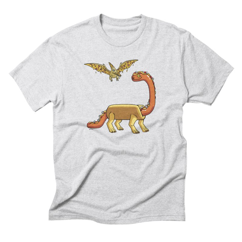 Brontodog and Pizzadactyl Men's Triblend T-Shirt by brianmcl's Artist Shop