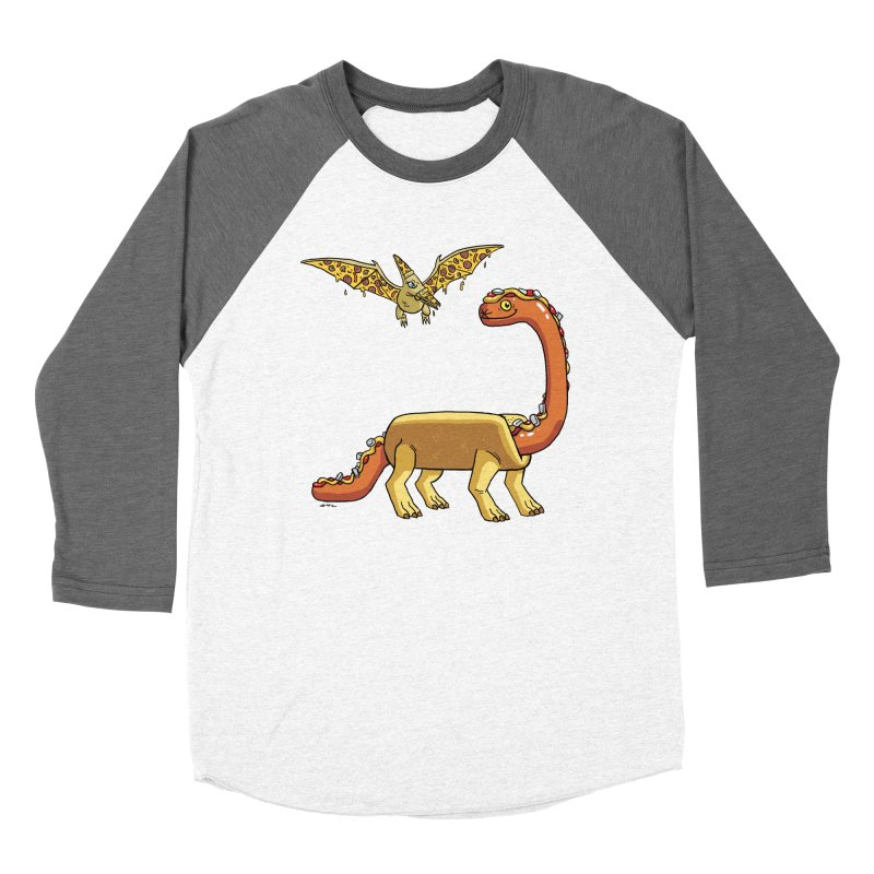 Brontodog and Pizzadactyl Men's Baseball Triblend Longsleeve T-Shirt by brianmcl's Artist Shop