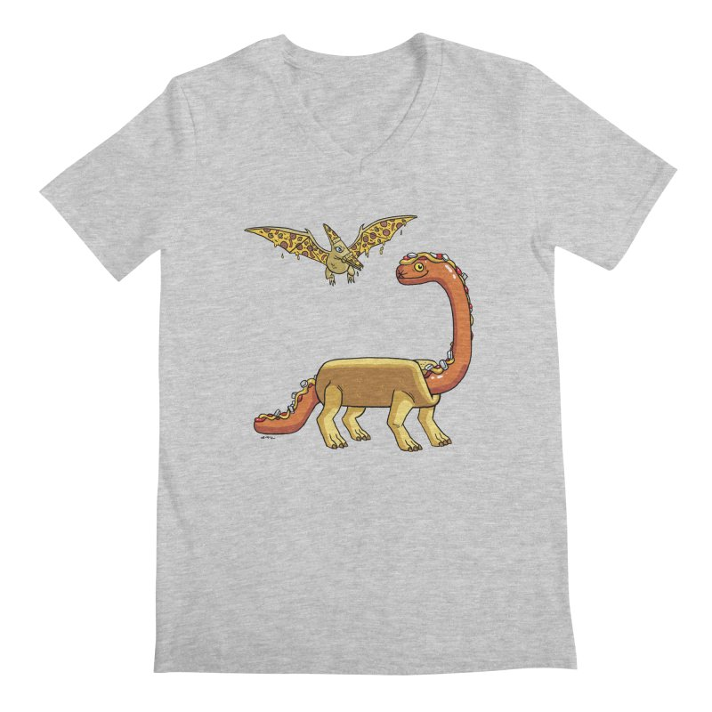 Brontodog and Pizzadactyl Men's V-Neck by brianmcl's Artist Shop
