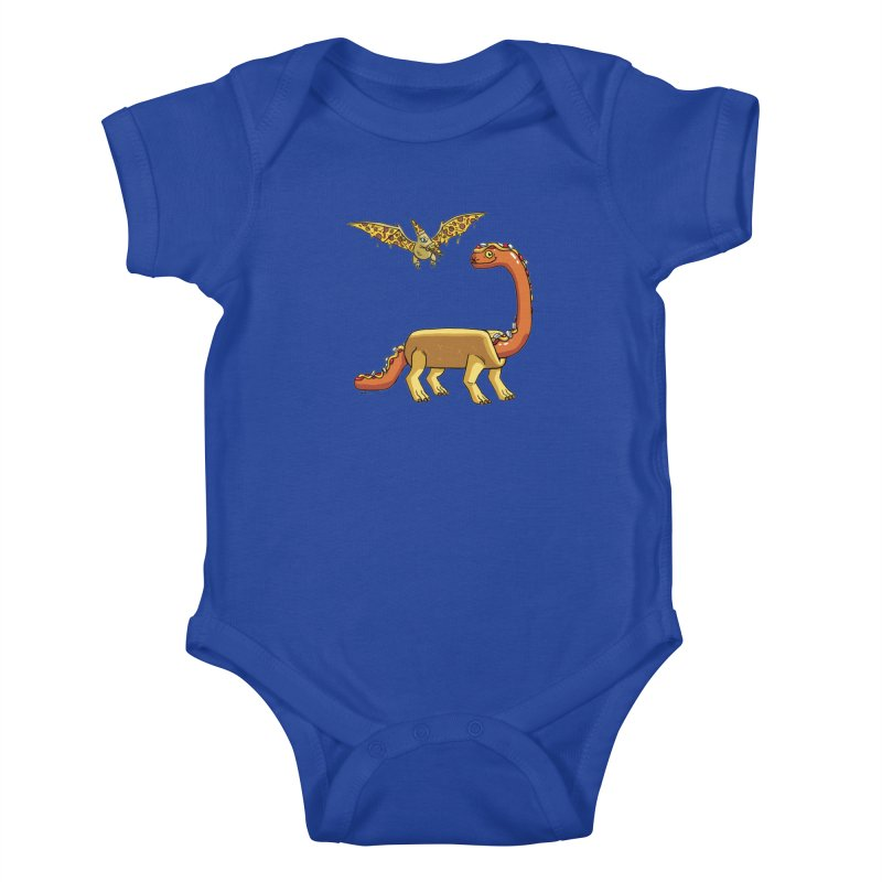 Brontodog and Pizzadactyl Kids Baby Bodysuit by brianmcl's Artist Shop