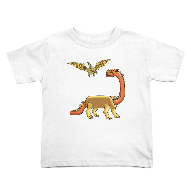 Brontodog and Pizzadactyl Kids Toddler T-Shirt by brianmcl's Artist Shop