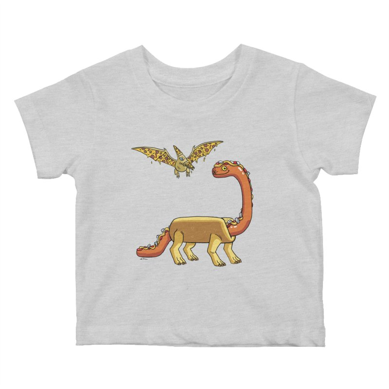 Brontodog and Pizzadactyl Kids Baby T-Shirt by brianmcl's Artist Shop