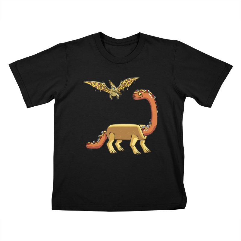 Brontodog and Pizzadactyl Kids T-Shirt by brianmcl's Artist Shop