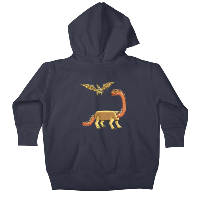 Brontodog and Pizzadactyl Kids Baby Zip-Up Hoody by brianmcl's Artist Shop