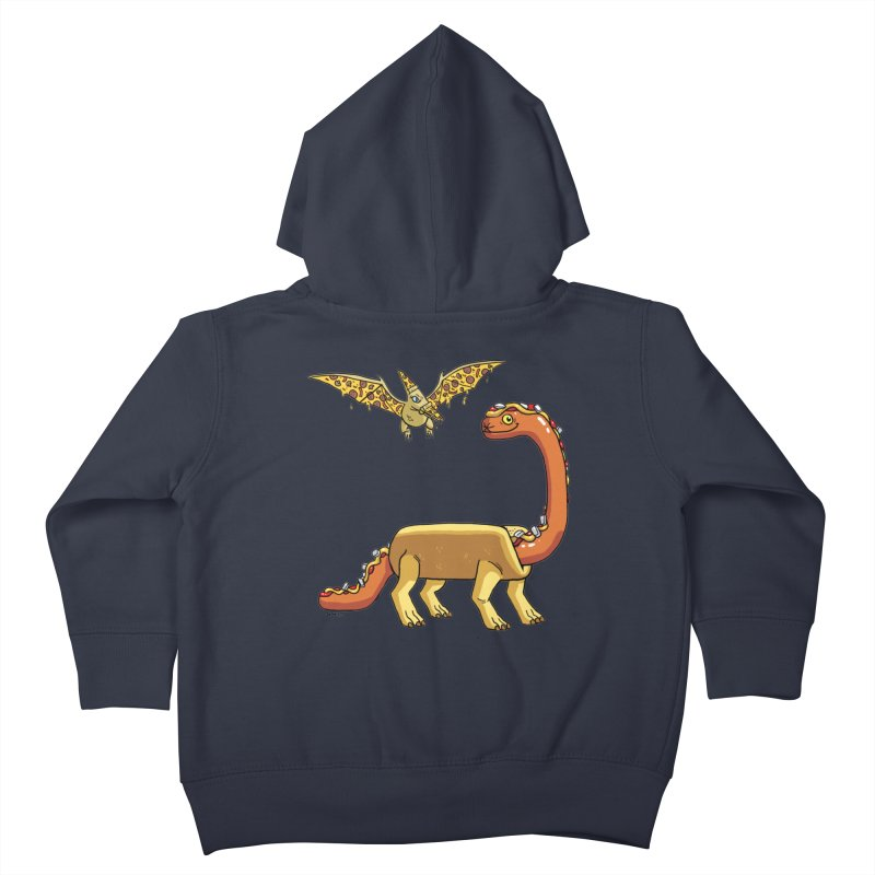 Brontodog and Pizzadactyl Kids Toddler Zip-Up Hoody by brianmcl's Artist Shop