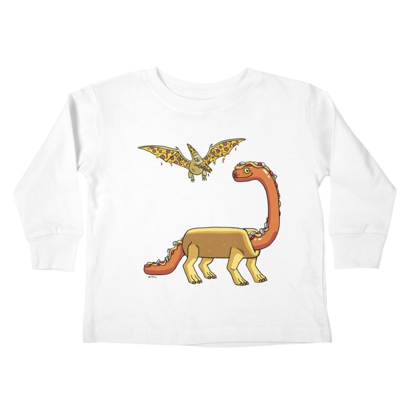 Brontodog and Pizzadactyl Kids Toddler Longsleeve T-Shirt by brianmcl's Artist Shop