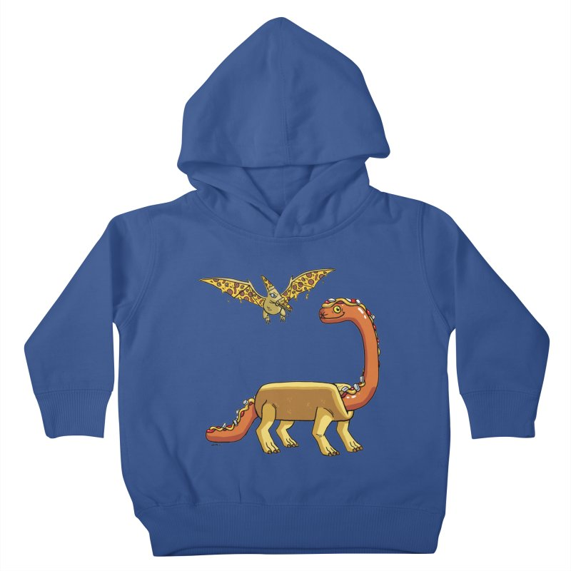 Brontodog and Pizzadactyl Kids Toddler Pullover Hoody by brianmcl's Artist Shop