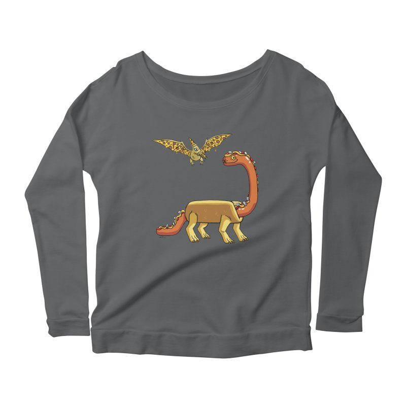 Brontodog and Pizzadactyl Women's Longsleeve T-Shirt by brianmcl's Artist Shop