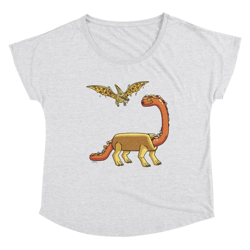 Brontodog and Pizzadactyl Women's Dolman Scoop Neck by brianmcl's Artist Shop