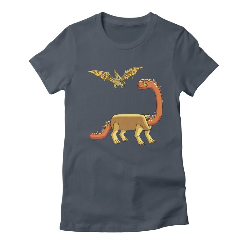 Brontodog and Pizzadactyl Women's T-Shirt by brianmcl's Artist Shop