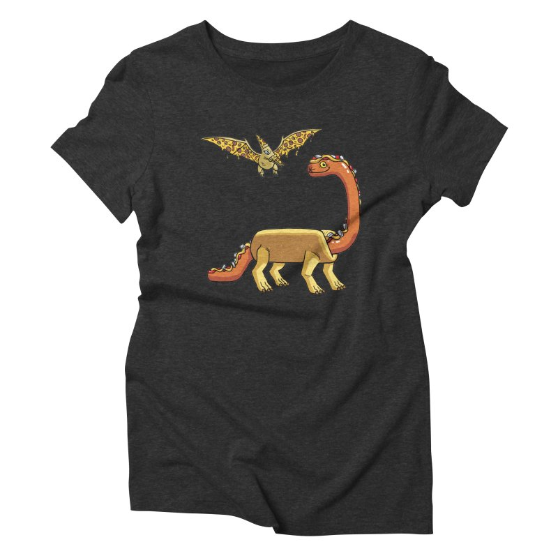Brontodog and Pizzadactyl Women's Triblend T-Shirt by brianmcl's Artist Shop