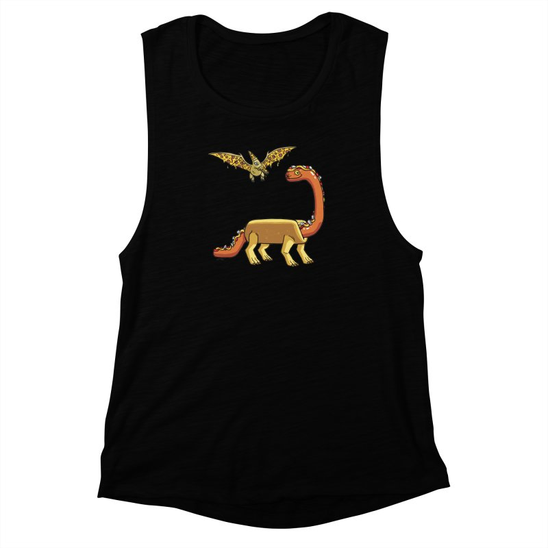 Brontodog and Pizzadactyl Women's Muscle Tank by brianmcl's Artist Shop