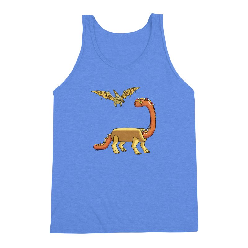 Brontodog and Pizzadactyl Men's Triblend Tank by brianmcl's Artist Shop