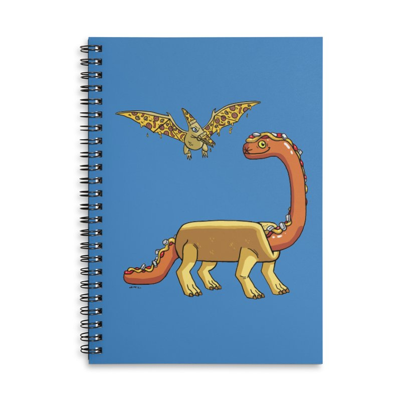 Brontodog and Pizzadactyl Accessories Lined Spiral Notebook by brianmcl's Artist Shop