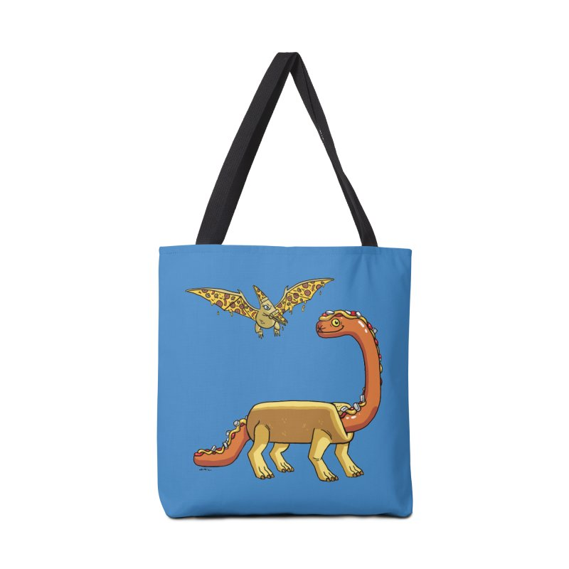 Brontodog and Pizzadactyl Accessories Tote Bag Bag by brianmcl's Artist Shop