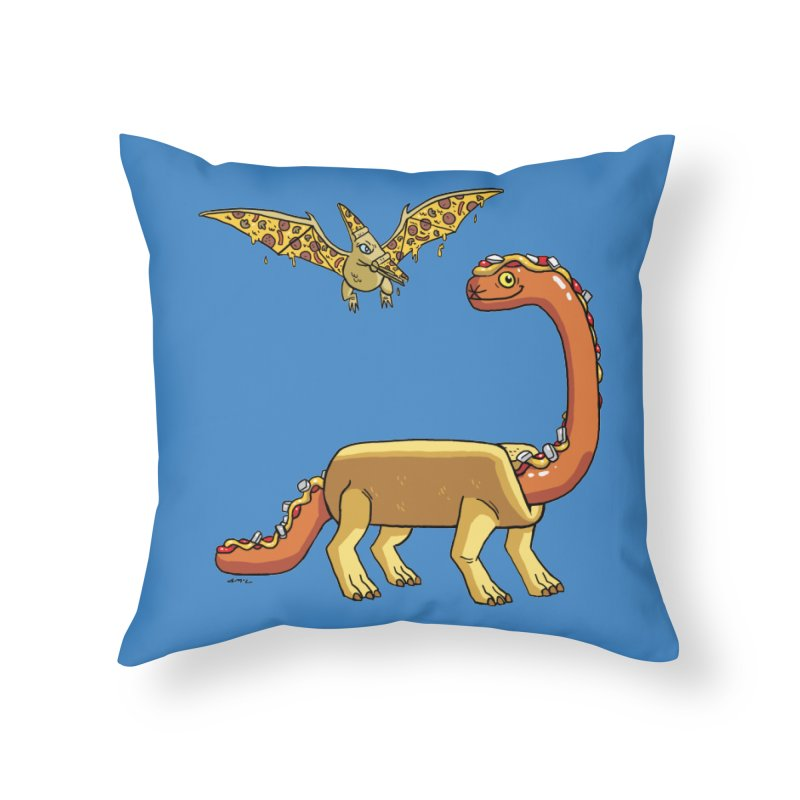 Brontodog and Pizzadactyl Home Throw Pillow by brianmcl's Artist Shop