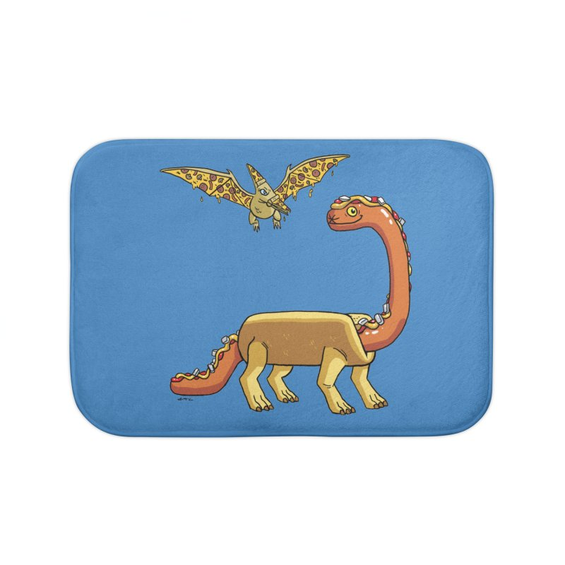 Brontodog and Pizzadactyl Home Bath Mat by brianmcl's Artist Shop